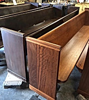 Church Pews Before & After