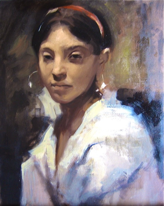 Head of a Capri Girl, after Sargent