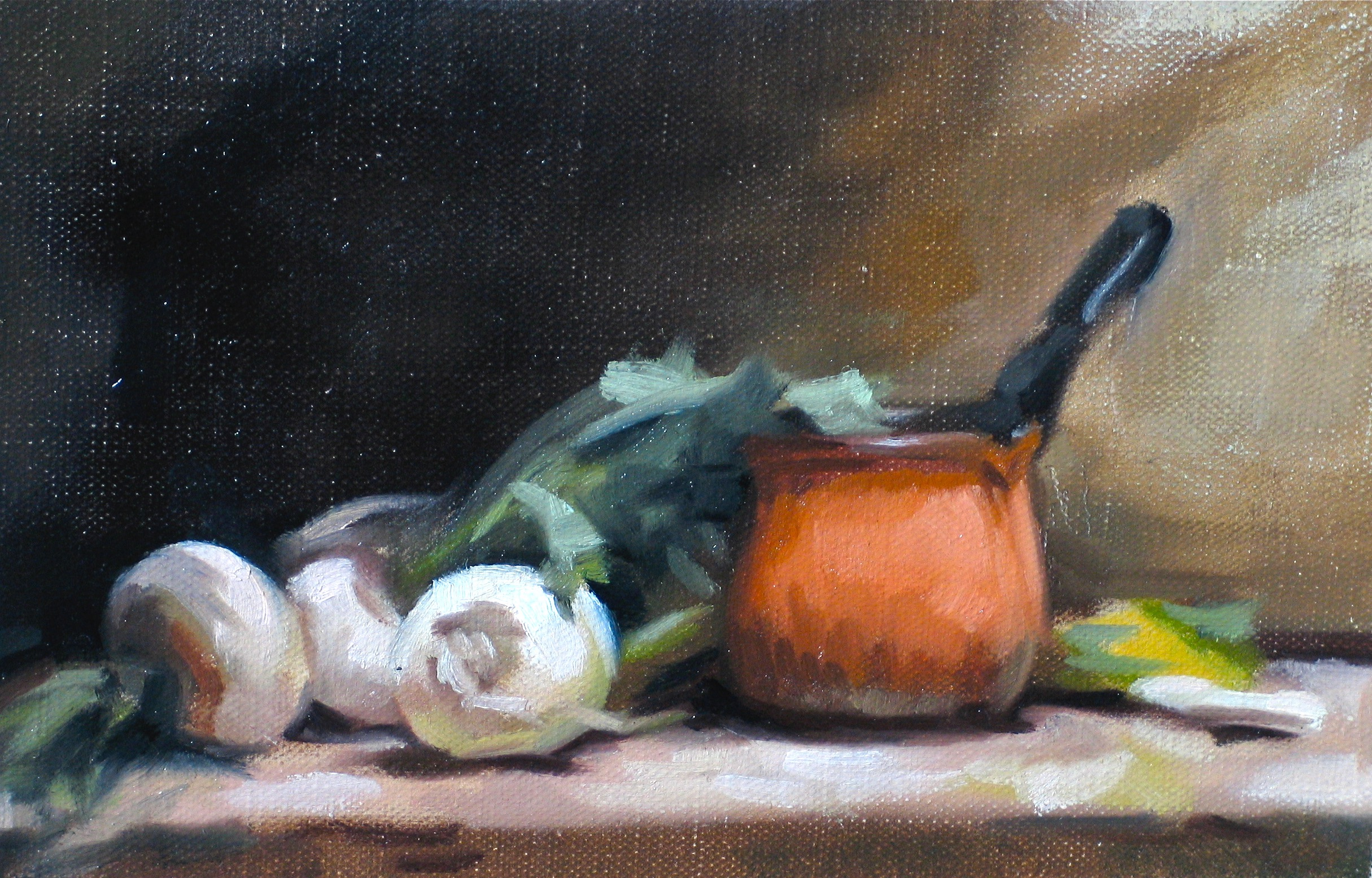 Still Life with Orange Pot