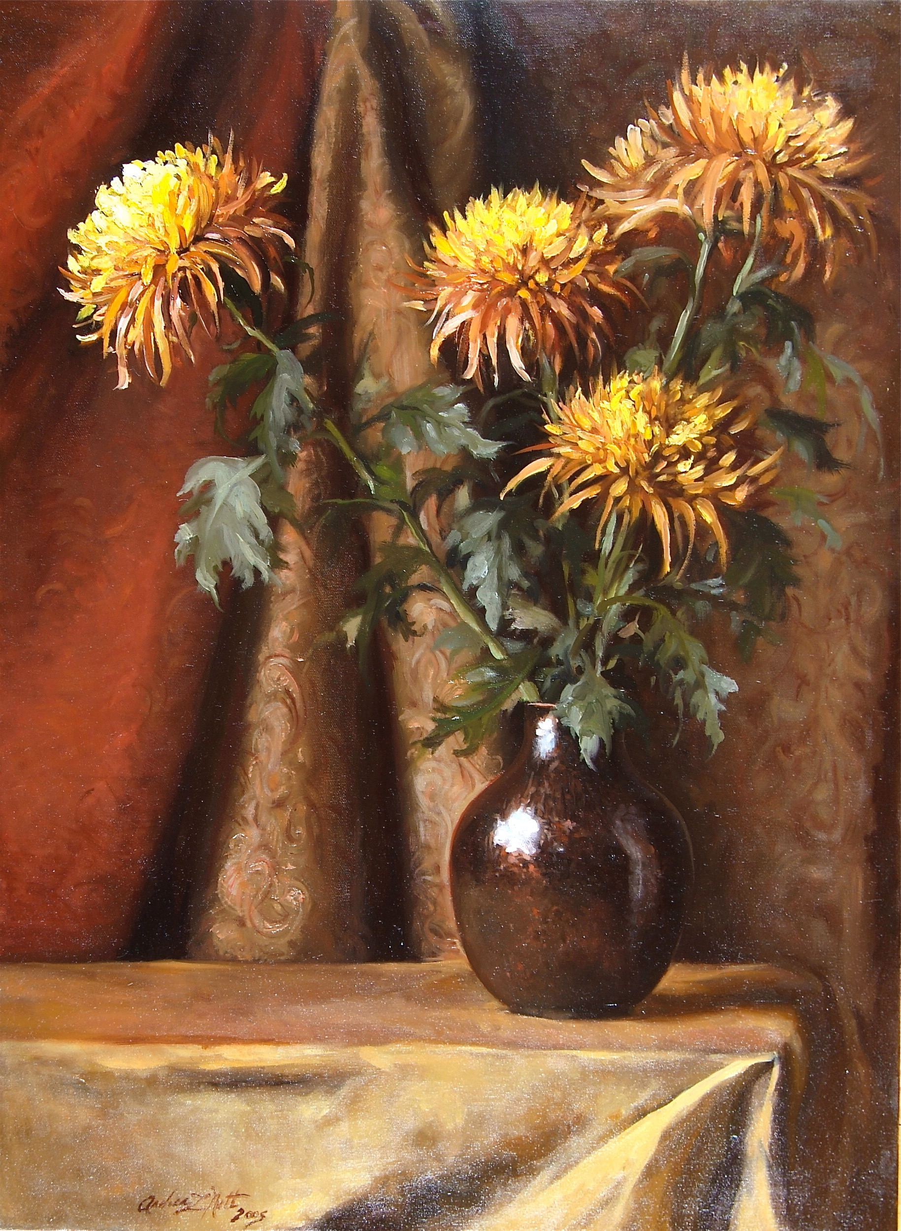 Copper and Chrysanthemum