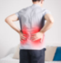 Back pain, kidney inflammation, man suff