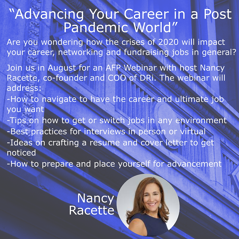 Advancing Your Career in a Post Pandemic World