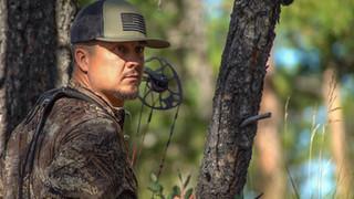 Brandon Adams staring at elk
