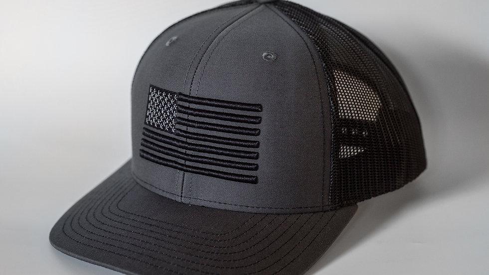 American Flag Grey/Black Mesh