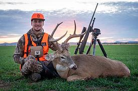 Brandon Adams with Oklahoma buck