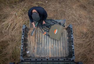 Brandon Adams prepping for hunt