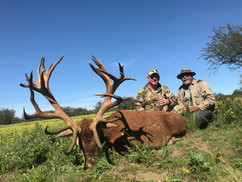 John Christopher with red stag