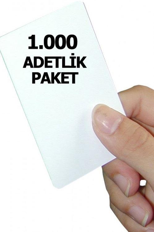 1.000 adet 1.Sınıf Proximity Kart (Seri numara baskılı)