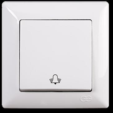 günsan visage beyaz light anahtar zil butonu