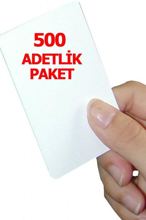 500 adet 1.Sınıf Proximity Kart (Seri numara baskılı )