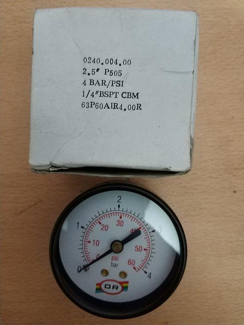 OR MANOMETRE 1/4-63 mm 4 bar