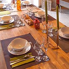 Table et couvert du gite de groupe