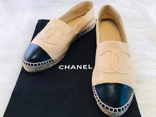 Chanel CC Lambskin Espadrille