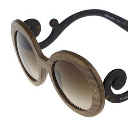 Prada Baroque Wooden Sunglasses