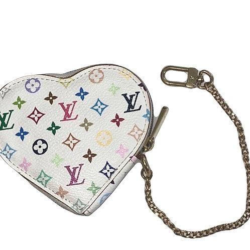Louis Vuitton Multicolor Heart Pouch Key Holder