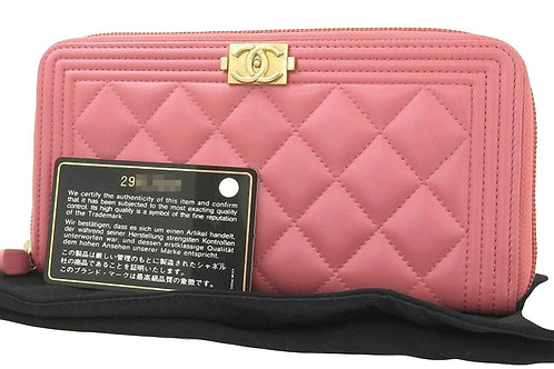 Chanel Boy Medium  Zipper Wallet
