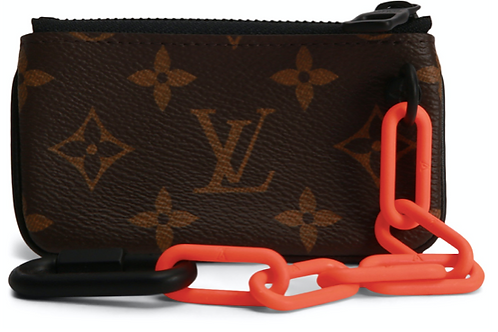 Louis Vuitton Brown Pochette Monogram Virgil Abloh Cles Wallet