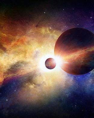 Planet och månen