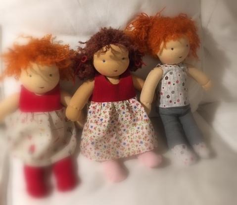 Fertige Puppen von Teilnehmern