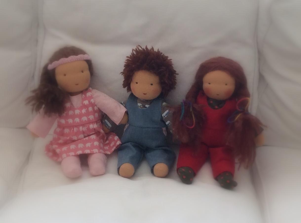 Fertige Puppen von Kursteilnehmern