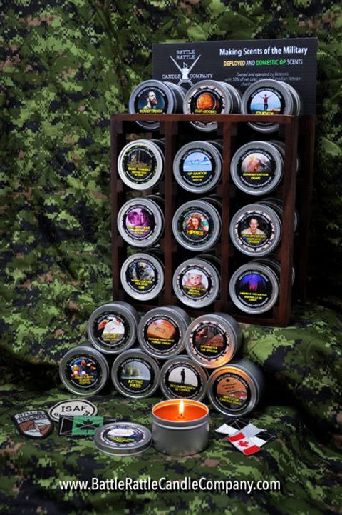 'Battle Rattle Candle Company' Military Scent Candles