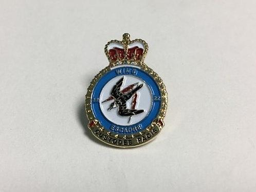 22 Wing Heraldic Badge Pin