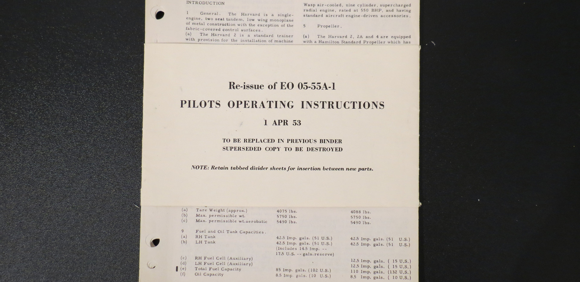 Harvard Pilots Instructions