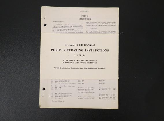 Harvard Pilots Instructions
