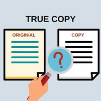 Notarial Act: True Copy