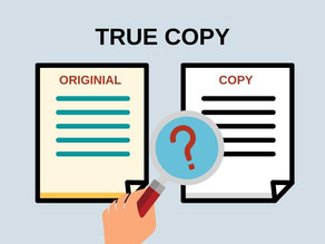 About True Copy in Notarization
