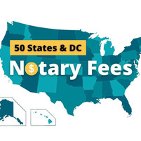 Notary fees in 50 States and DC