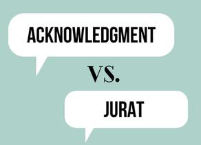Acknowledgment Vs. Jurat