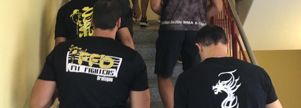 Die Kampfsportclubs in den Räumlichkeiten der Kinderklinik