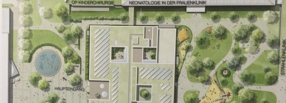 Bauplan der Kinderklinik Freiburg