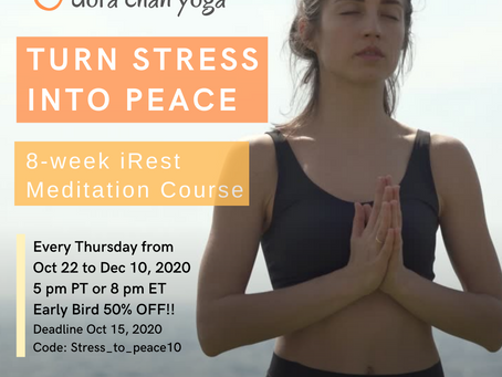 8-wk iRest Meditation Course Early-Bird Offer 50% off!!