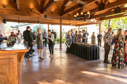 large outdoor area, reception and ceremony
