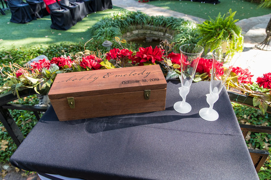 wedding wine box keepsake