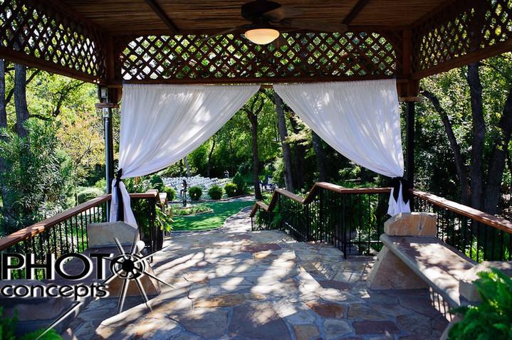 Bridal Entrance into The Gardens outdoor ceremony