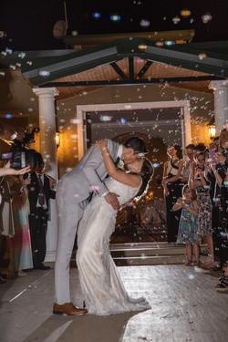 bubbles exit, sparkler exit, banquet hall, venue