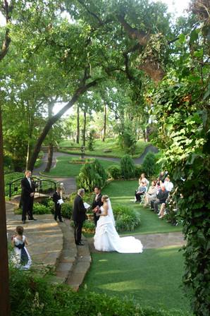 Outdoor Wedding Ceremony in The Gardens