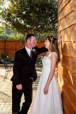 couple in the gardens, outdoor reception and wedding
