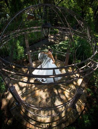 Bridal Pictures in The Garden Gazebo