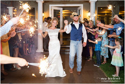 sparkler exit, grand exit, outdoor ceremony, venue near fort worth