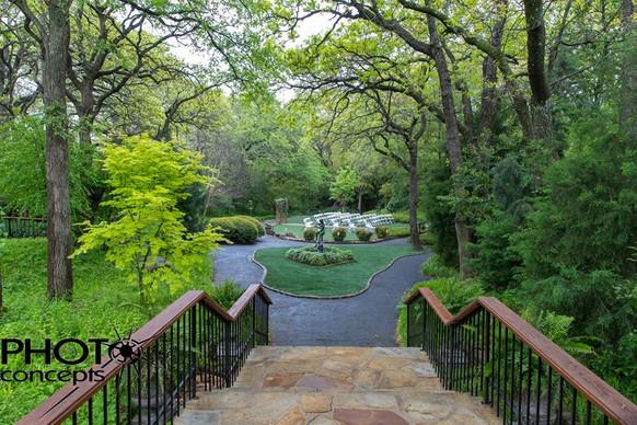 Bridal Entrance in The Gardens outdoor ceremony
