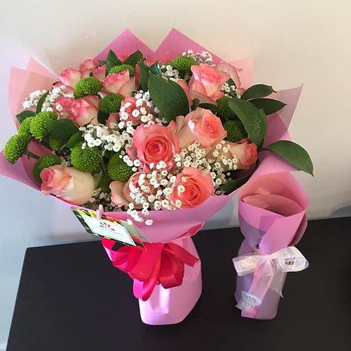 (PACK) Bouquet 20 Rosas + Vinho Madeira