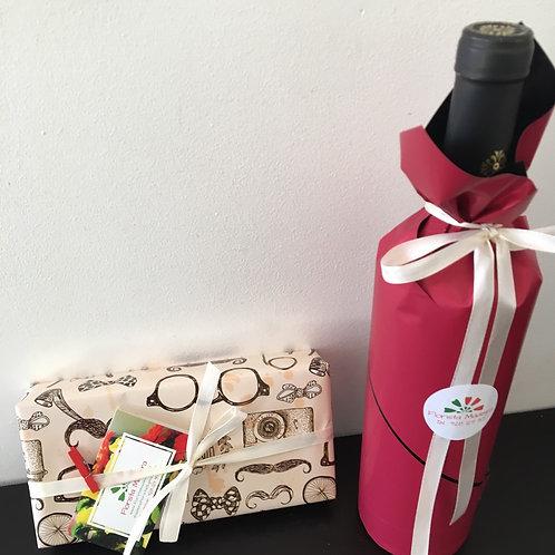 Caixa de Chocolates e Garrafa de Vinho/Espumante