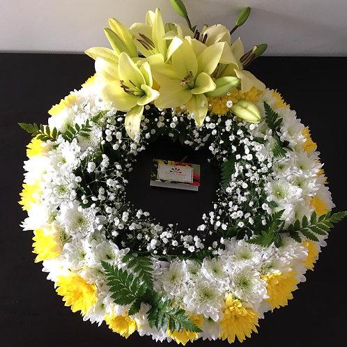 Coroa de Flores (pequena 30cm) desde