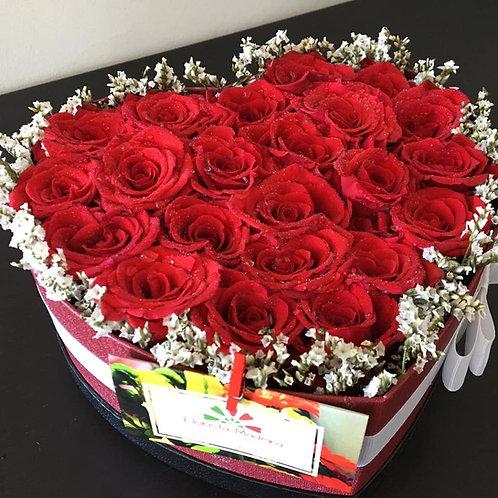 Bouquet de Rosas em Caixa (4 tamanhos) desde