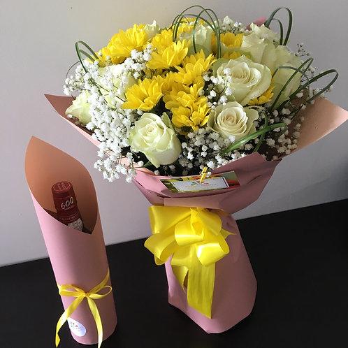 Bouquet 20 Rosas + Vinho Madeira