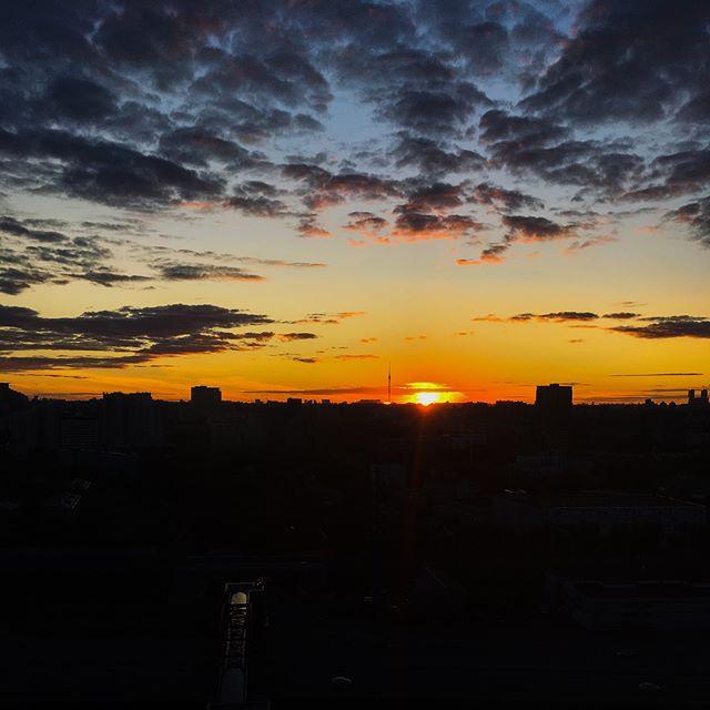 Last sunset in Russia
